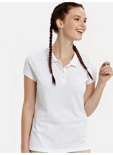 LC Waikiki Kısa Kollu Bluz Beyaz